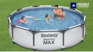 Bestway 56408D Steel Pro Max con Depuradora Cartucho 1249 LH