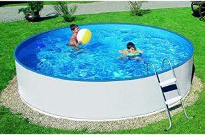 Mountfield AZURO Basic V2 - Piscina de Pared de Acero (240 x 90 cm, Piscina, lámina Interior, Escalera, sin Sistema de Filtro)