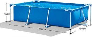 Piscina desmontable rectangular 260x160x65 cm