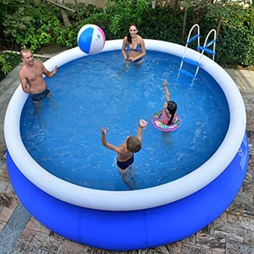 XM&LZ Extra Grande Piscina Hinchable para Los Niños Adultos,Redondo PVC Piscina, Uso Doméstico Blow Up Pool,Jardín Al Aire Libre Piscina Infantil Azul 240 x 63cm